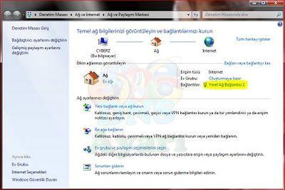 Windows 7 DNS Değiştirme Adım 2