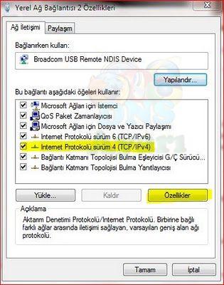 Windows 7 DNS Değiştirme Adım 4