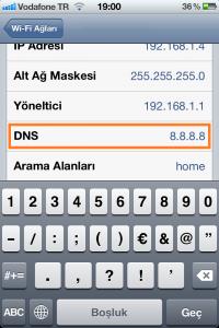 iPhone DNS Değiştirme Adım 3