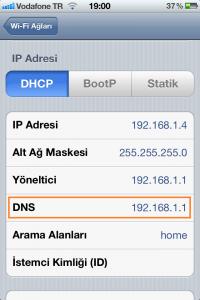 iPhone DNS Değiştirme 2.Adım
