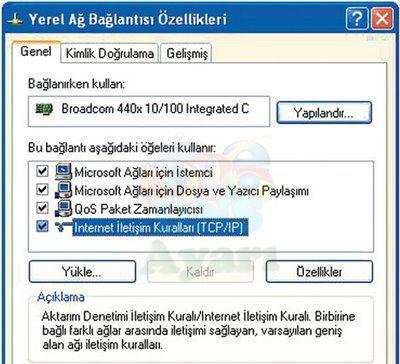 Windows XP DNS Değiştirme Adım 2