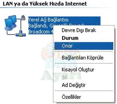 Windows XP DNS Değiştirme Adım 3
