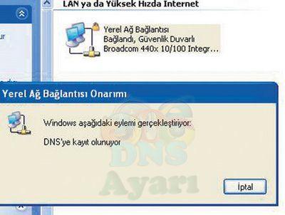 Windows XP DNS Değiştirme Adım 5